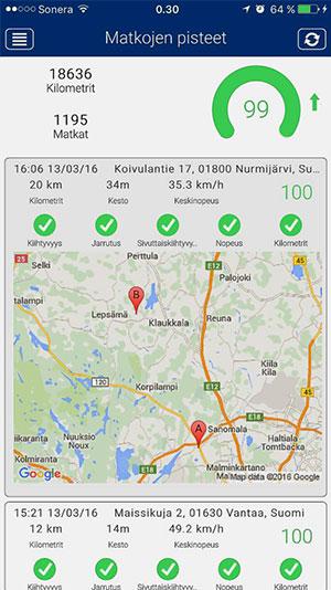 Mobiilisovellus-Ajoreitti-Meta-Trak